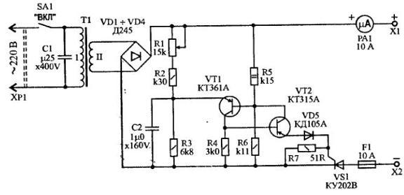 Тиристорный регулятор мощности для зарядки 5