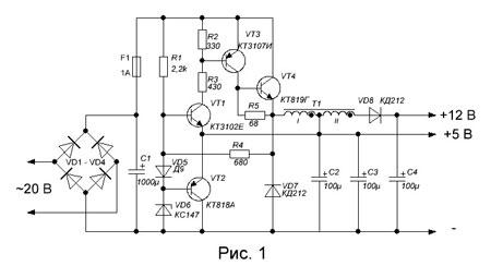 схемы тока импульсные стабилизаторы